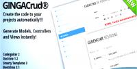 Crud ginga generator code codeigniter
