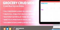 Crud grocery materialize theme bootstrap for