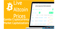 Cryptocurrency gamba market prices capitalizations altcoin and