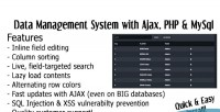 Ajax datagrid tables system management data