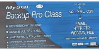 Backup mysql pro class