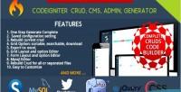 Cms codeigniter administrator builder crud