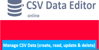 Csv data manager editor crud viewer and