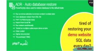 Database automatic restore restore for content websites demo your