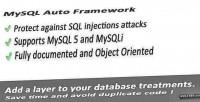 Database mysql auto framework