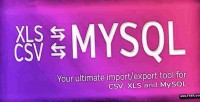 Ultimate database import export csv xls mysql x