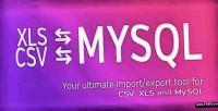Ultimate database import export csv xls mysql x
