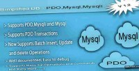 Simplified db pdo mysqli class helper mysql