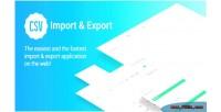Import csv export