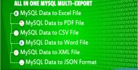 In all one export multi mysql