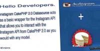 Instagram cakephp datasource