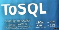 Json tosql xml sql to php