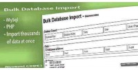Mysql bulk database import