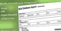 Mysql bulk database import