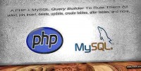 Mysql php library builder query