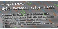 Mysql smplpdo class helper database