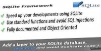 Object sqlite oriented framework