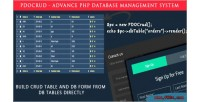 Pdocrud advanced php crud application database system management