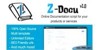 Docu z script documentation online