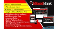 Dynamic bloodbank blood bank syestem management script directory and