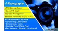 Dynamic photography photographer syestem management script directory and