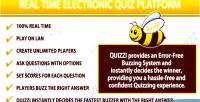 Electronic the quizzi platform quiz