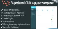Elegant codeksj management user laravel