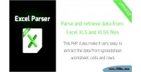 Excel parser parse retrieve excel from data
