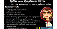 Eyeglasses optika mirror