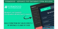 Advance formdoid php builder form database