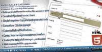 Ajax html5 generator form contact