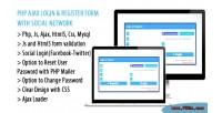 Ajax login register form network social with ajax