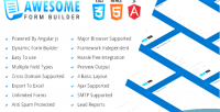 Angular awesome js php builder form