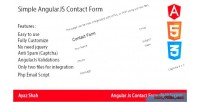 Angularjs simple contact form