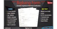 Bootstrap angular bigbang form