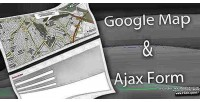 Ajax contact form with pointer map google