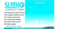 Contact sleek form