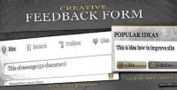 Feedback creative form system voting with
