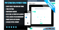 Flat php forms payment estimation