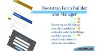 Form bootstrap manager & builder
