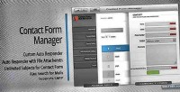 Form contact system management contact