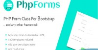 Form php bootstrap for class