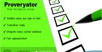 Form proveryator validation script