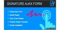 Form signature ajax signature form canvas with