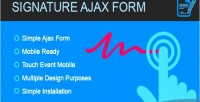 Form signature ajax signature form canvas with