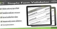 Form simple class php validator
