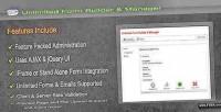 Form unlimited builder manager