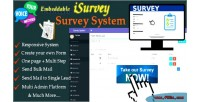 Isurvey survey management system builder form with
