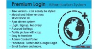 Login premium authentication system