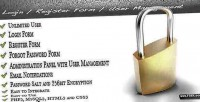 Login secure register management user and
